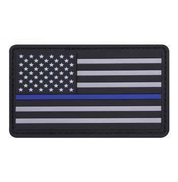 PVC Thin Blue Line Flag Patch | Velcro