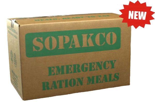 Sopakco Sure-Pak MRE Full Meal Kit with Heater - Case of 14 (Civilian MRE) - REDUCED SODIUM