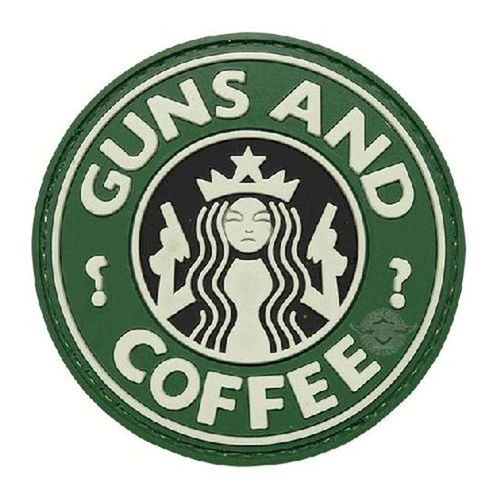 PVC MORALE PATCH - GUNS & COFFE