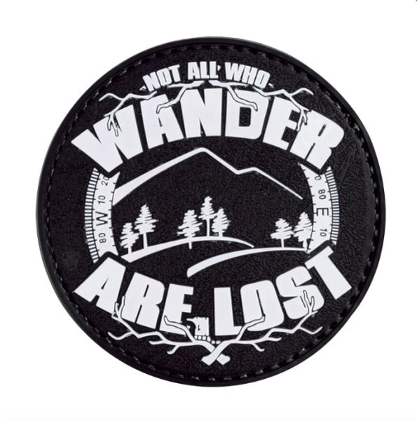 PVC MORALE PATCH - GLOW - NOT ALL WHO WANDER