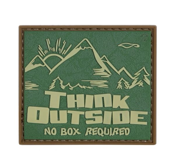PVC MORALE PATCH - THINK OUTSIDE NO BOX