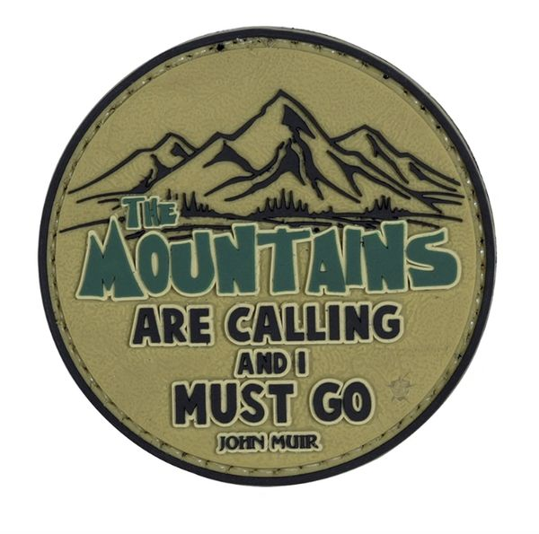 PVC MORALE PATCH - THE MOUNTAINS ARE CALLING