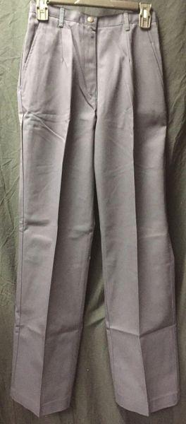 Navy Blue Pleated Women's Utility Work Pants 6MPx30