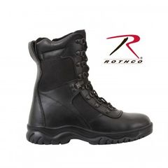 "Rothco Forced Entry Black 8"" Tactical Boot With Side Zipper 5053"