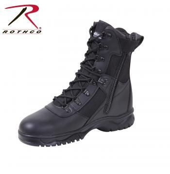 "Rothco Forced Entry Black 8"" Insulated Tactical Boot with Side Zipper 5073"
