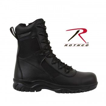 "Rothco Forced Entry Black 8"" Tactical Boot with Side Zipper and Composite Toe 5063"