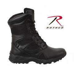 "Rothco Forced Entry Black 8"" Deployment Boot with Side Zipper 5358"