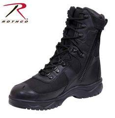 "Rothco 8"" Black V-Motion Flex Toe Tactical Boot With Side Zipper 5087"