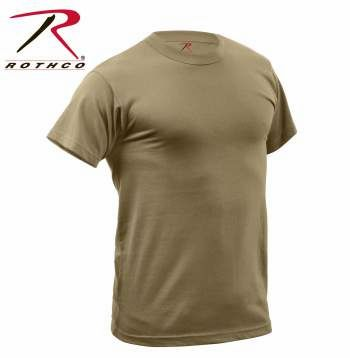 AR 670-1 Compliant Coyote Quick Dry Moisture Wicking T-shirt | 67947