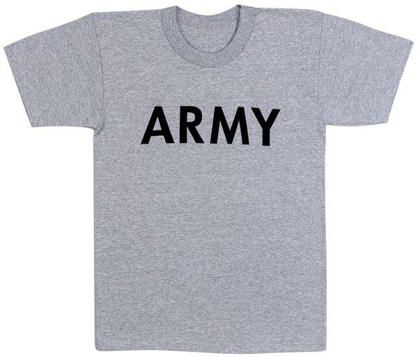 Army Grey Physical Training T-Shirt   6080
