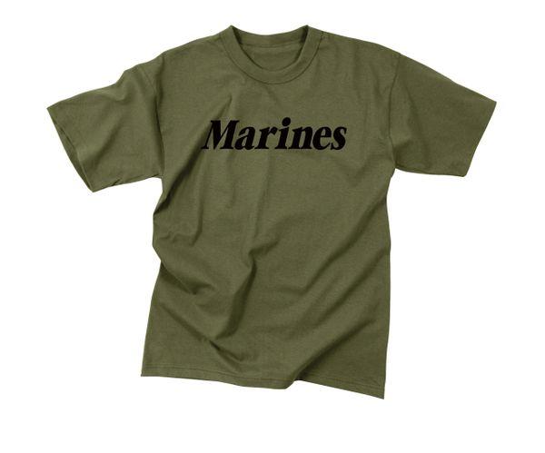 Olive Drab Military Physical Training T-Shirt   Marines   60157