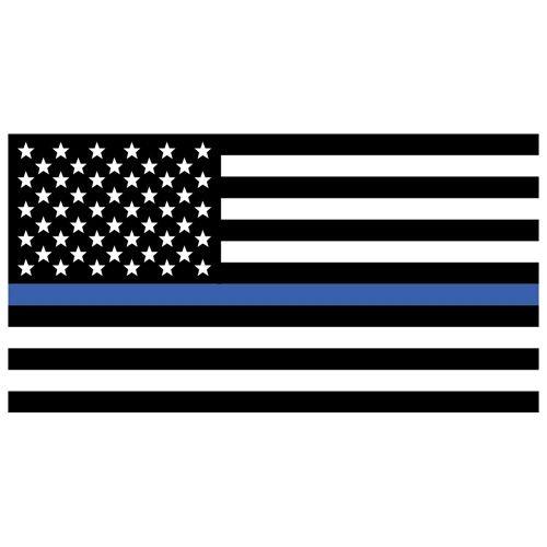 USA Flag/Thin Blue Line Decal 10-482