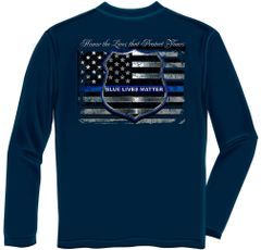 Long Sleeves T-Shirt Blue Lives Matter | THF2293LS
