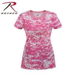 WOMEN'S LONGER PINK DIGITAL CAMO T-SHIRT | 5683