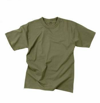 Moisture-Wicking Solid Color Military T-Shirts