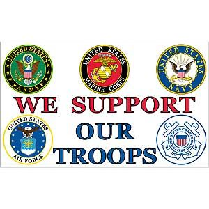 SUPPORT OUR TROOPS FLAG | FN058