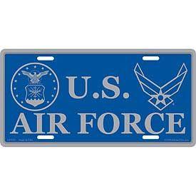 USAF EMBLEM & SYMBOL LICENSE PLATE