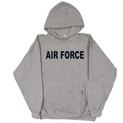 AIR FORCE GREY PULLOVER HOODED SWEATSHIRT
