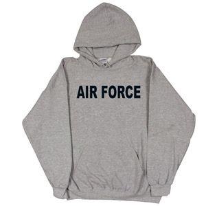 AIR FORCE GREY PULLOVER HOODED SWEATSHIRT