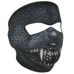 Neoprene Full Face Mask - Silver Bullet