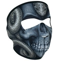 NEOPRENE FULL FACE MASK - SNAKE SKULL