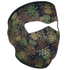 NEOPRENE FULL FACE MASK - ALL OVER SKULL CAMO