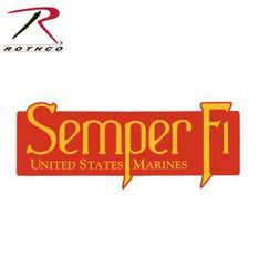Rothco USMC Semper Fi Bumper Sticker