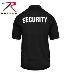 Rothco Moisture Wicking Security Polo Shirt With Badge | 3627