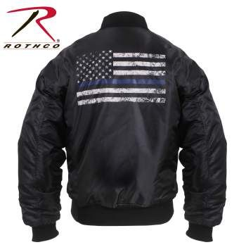 Rothco Thin Blue Line Flag MA-1 Flight Jacket | 4951