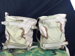 LOT OF 2 - DCU ARMY SURPLUS RADIO POUCH / BAG MOLLE II DESERT CAMO NEW