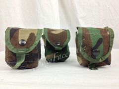 LOT OF 3 - US Military Woodland Camo Multipurpose Grenade Pouches EUC
