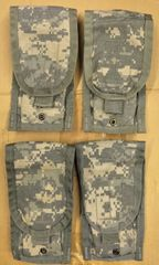 Lot of 4 - US Military Army ACU Molle II M-Series Double Mag Ammo Pouches USED