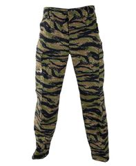 BDU Camo Pants Propper Genuine Gear Zipper Fly 60/40 Ripstop Tiger Stripe