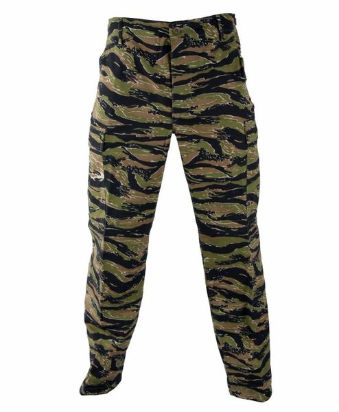BDU Camo Pants Propper Tactical Zipper Fly 60/40 Ripstop Asian Tiger Stripe