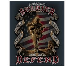 American Soldier Fleece Blanket | MM112-TB