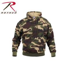 Woodland Camo Pullover Hooded Sweatshirt | 6590