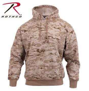 Desert Digital Camo Pullover Hooded Sweatshirt | 6525