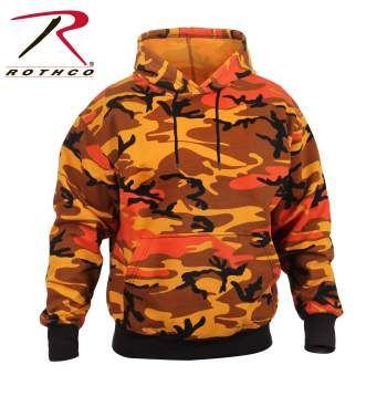 Savage Orange Camo Pullover Hooded Sweatshirt | 3690