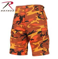 Savage Orange Camo Color Camo BDU Shorts | 65004