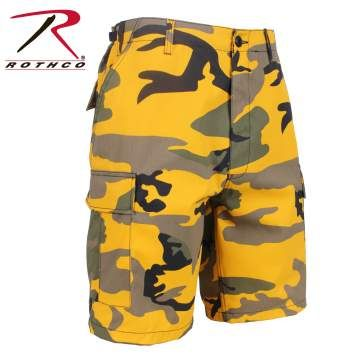 Stinger Yellow Colored Camo BDU Shorts | 65007