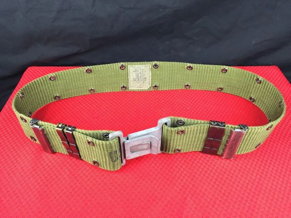 Military Issue Pistol Belt | Medium | Grey Buckle | Used