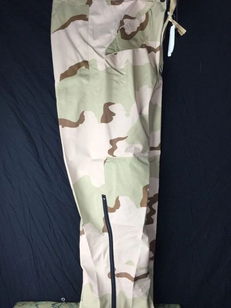 NEW MILITARY ECWCS GORETEX PANTS GORE-TEX COLD WEATHER DESERT CAMO LARGE LONG
