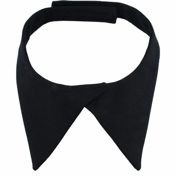 FEMALE NECK TAB: WITH HOOK CLOSURE - BLACK