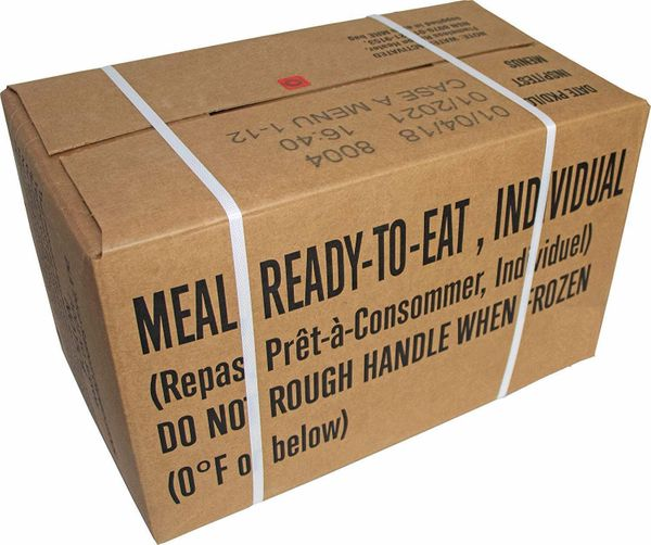 MREs, Case of 12 Meals, 2020 - 2022 Inspection Dates
