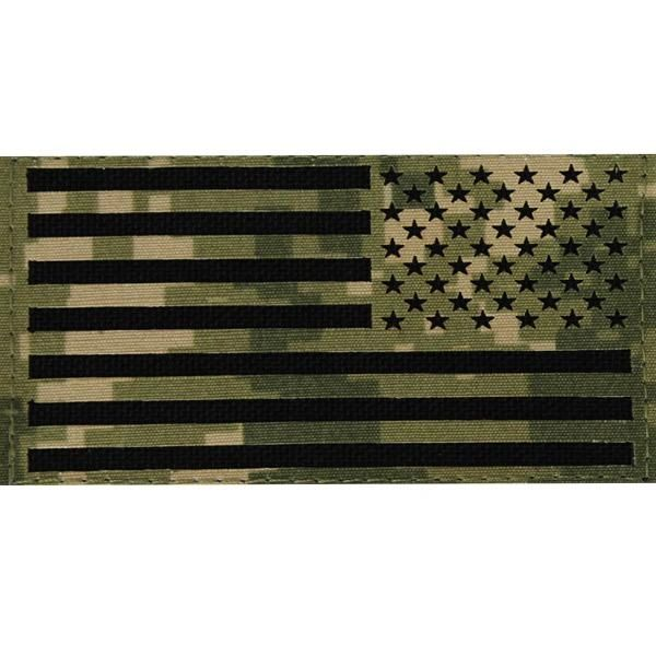 FLAG PATCH - U.S. FLAG REVERSED FIELD - WOODLAND DIGITAL NWUIII