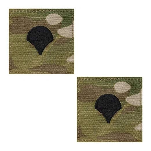ARMY EMBROIDERED OCP WITH HOOK RANK INSIGNIA: SPECIALIST 4 - SET OF 2