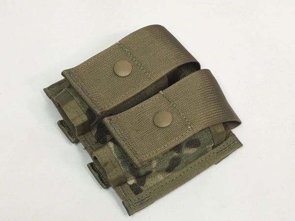 MOLLE II 40mm High-Explosive (HE) Double Pouch, RFI Issue, MultiCam (OCP)