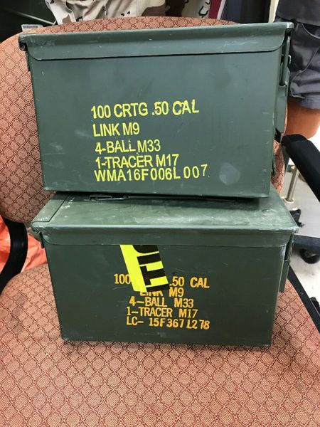 AMMO CAN - .50 CAL | 8140-00-960-1699 USED Lot of 2