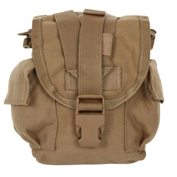 MOLLE 1-Quart Canteen Pouch, NSN 8465-01-532-2303 (Coyote Brown) | USED