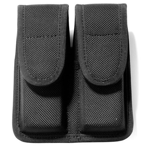 Galls Molded Nylon Double Staggered Mag Pouch | NP242 Black | New